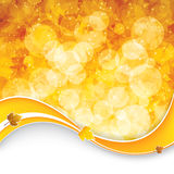 Autumn leaves background. Autumnal leaf of maple and sunlight background stock illustration