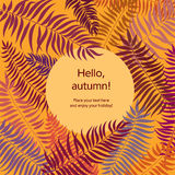 Autumn leaves  background. Back to school card. Floral leaf bord Stock Photos