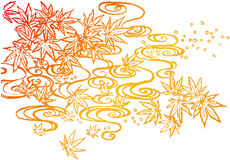 Autumn leaves background. brushstroke illustration. Stock Images