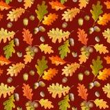 Autumn Leaves Background coloré - modèle sans couture Photo stock