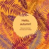 Autumn Leaves Background De nouveau à la carte d'école Bord de feuille florale Photos stock