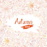 Autumn-leaves-background-13-a Stock Image