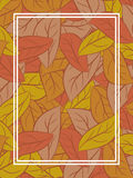 Autumn Leaves Background Fond de feuille tombé par jaune Images stock