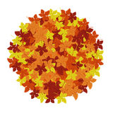 Autumn Leaves Background Ilustração do vetor Teste padrão abstrato floral Projeto gráfico da forma Símbolo do outono, do eco e de Fotografia de Stock