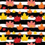Autumn Leaves Background Pattern senza cuciture Immagini Stock Libere da Diritti