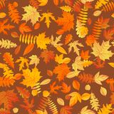 Autumn leaves background seamless pattern. EPS 10 stock illustration