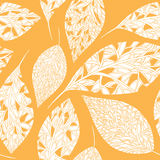 Autumn leaves background. Seamless pattern with leafs, autumn leaves background. Vector, EPS 8 Stock Image
