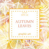 Autumn leaves background with space for text. white leaves on watercolor background Royalty Free Stock Image