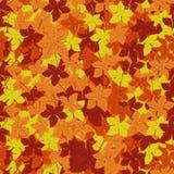 Autumn Leaves Background Vector illustratie Bloemen abstract patroon Manier grafisch ontwerp Symbool van de herfst, eco en natuur Royalty-vrije Stock Afbeeldingen