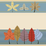 Autumn leaves background. Vintage background of autumn leaves, horizontal stripes, there is space for text Vector Illustration