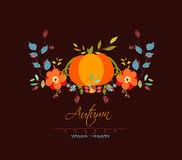 Autumn leaves background vintage Stock Photos