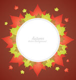 Autumn Leaves Banner Background Royalty Free Stock Photos