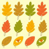 Autumn Leaves Bookmark Vector Set Image libre de droits