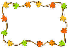 Autumn Leaves Border Frame. Border frame with maple leaves. Can be used as photo frame, party invitation or greeting card Stock Photos