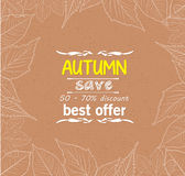 Autumn leaves border retro Stock Photos