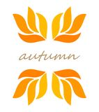 Autumn leaves border symbol vector illustration