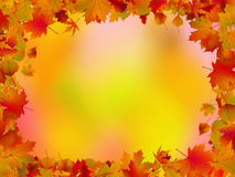 Autumn leaves border for your text. EPS 8 Stock Photography