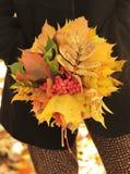 Autumn leaves bouquet Stock Photos