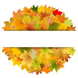 Autumn leaves card Royalty Free Stock Photo