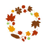 Autumn leaves circle Stock Image