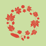 Autumn leaves circle Stock Photo
