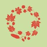Autumn leaves circle Stock Photo
