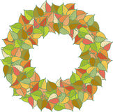 Autumn leaves colored pattern Stock Photos