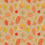 Autumn leaves colorful seamless pattern. On rainy background Vector Illustration
