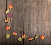 Autumn Leaves Corner Immagine Stock Libera da Diritti
