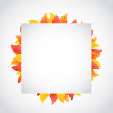 Autumn leaves cube sign illustration Royalty Free Stock Photo
