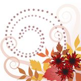 Autumn leaves with curls stock illustration