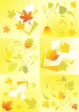 Autumn leaves design elements, vector Stock Photos