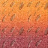 Autumn leaves embossed textured background. Fall theme paper for artworks.Vintage looking design. stock illustration