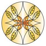 Autumn Leaves en el círculo Modelo abstracto ilustración del vector