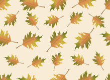 Autumn leaves endless background. Vector seamless pattern. Can be used for wallpaper, textile and web page background Vector Illustration