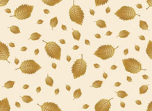 Autumn leaves endless background. Vector seamless pattern. Can be used for wallpaper, textile and web page background Stock Photo