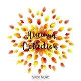 Autumn Leaves Falling ilustración del vector