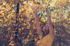 Autumn Leaves Falling royalty-vrije stock foto
