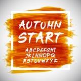 Autumn Leaves Font också vektor för coreldrawillustration Royaltyfria Bilder