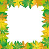 Autumn leaves frame 02 Royalty Free Stock Photo