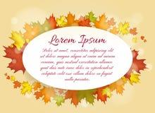 Autumn Leaves Frame Photos libres de droits