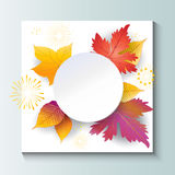 Autumn Leaves Frame Images stock
