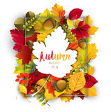 Autumn leaves frame background with autumn leaves silhouette. Illustration of Autumn leaves frame background with autumn leaves silhouette Stock Illustration