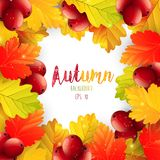 Autumn leaves frame background. Illustration of Autumn leaves frame background Royalty Free Illustration