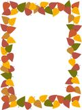 Autumn leaves frame or border Royalty Free Stock Image