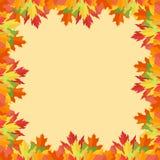 Autumn Leaves Frame coloré sur le fond jaune illustration stock