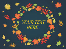 Autumn Leaves Frame Elementos maravillosos y marco decorativo libre illustration