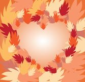 Autumn leaves frame illustration Stock Images