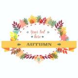 Autumn Leaves Frame Illustrazione di vettore Fotografia Stock Libera da Diritti