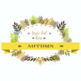 Autumn Leaves Frame Ilustración del vector Fotos de archivo